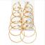 6Pairs-set-Vintage-Silver-Gold-Big-Circle-Hoop-Earrings-Women-Steampunk-Ear-Clip miniature 2