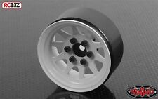 "OEM Stamped Steel 1.9"" Beadlock Wheels WHITE 12mm Hex 10 spoke RC4WD Z-W0208"
