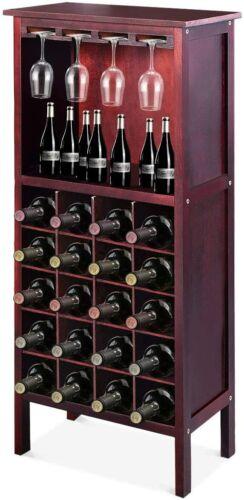Weinregal Flaschenregal Weinständer Weinschrank mit Gläserhalter für 20 Flaschen