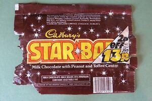 VINTAGE 1980'S CADBURY'S STAR BAR CHOCOLATE WRAPPER