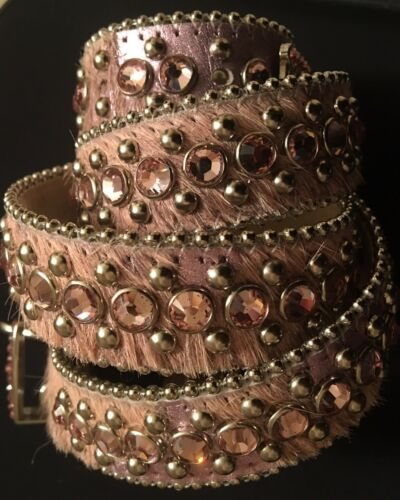Authentic B.B. Simon Pink Belt w/ Pink Crystals