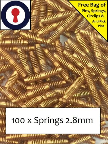 Locksport springs x 100 for Euro Oval and Rim cylinders *FREE BITS* 1st P/&P Inc