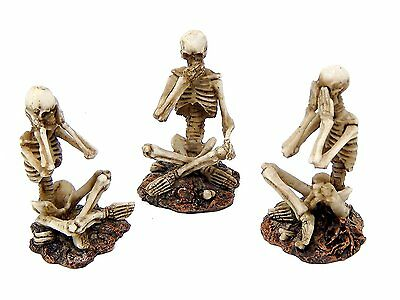 See, Speak and Hear No Evil Shelf Sitters Statue Figurine Skeleton Statues Gifts