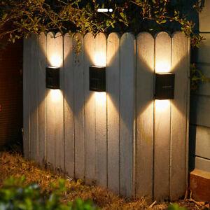 8X Super Bright LED Solar Power Wall Lights Door Fence Patio Outdoor Garden Lamp