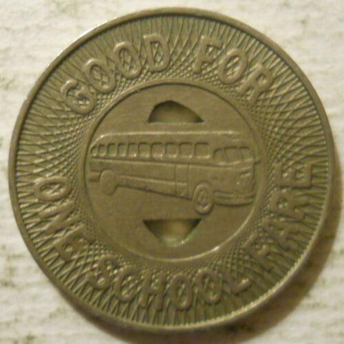 school transit token Manchester Transit Inc. New Hampshire NH640L