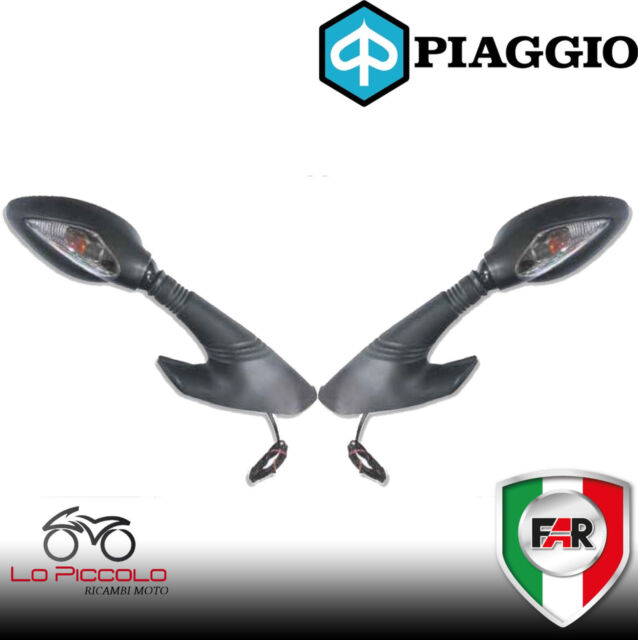 Par 2 Espejos Retrovisor Negro Homologado Far Piaggio X9 Evolution