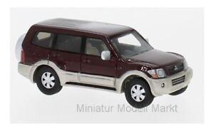 87495-BoS-Models-Mitsubishi-Pajero-metallic-dunkelrot-2003-1-87