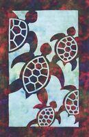2 Fabric Applique Herd Of Turtles Pacific Rim Quilt Pattern