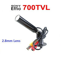 1/3sony Ccd Color 2.8mm Wide Angle Waterproof Cctv Security Mini Hidden Camera