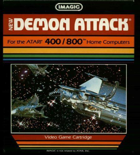 Demon Attack Cartridge By Imagic New Atari 800