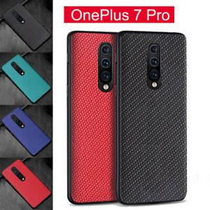 Pour-OnePlus-7-7-Pro-Phone-Housse-antichoc-anti-abrasion-Fibre-de-Carbone