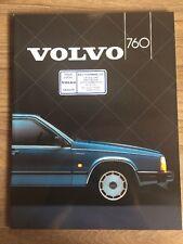 VOLVO 760 1985 RANGE CAR BROCHURE. GLE V6 TURBO DIESEL 6 CYL / PETROL 2.4 4 CYL