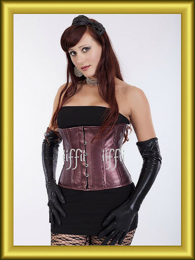 Waist corset corsage faux leather sizes 34,36,38,40 to 56