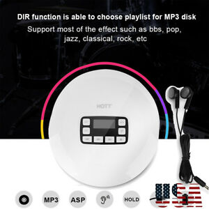 Bluetooth-Portable-Personal-CD-Player-With-Earphones-USB-Battery-Powered-HOTT