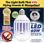 ZappLight LED 60w Light Bulb that Kills Flying Insects /& Mosquitos