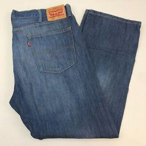 Levi-039-s-505-Denim-Jeans-Mens-40X30-Blue-Straight-Leg-Regular-Fit-Medium-Washed