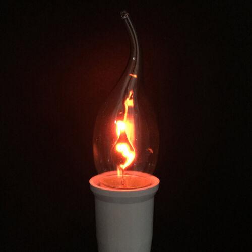 E14 E27 Feuer Flammen effekt Licht LED Birne Kerzen Lampe Party Hause Großartig