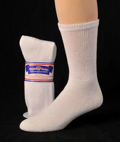 Diabetic Cushioned Crew Socks 3 Women/'s //Ladies Sizes 9-15 6 or 12 Pair Men/'s