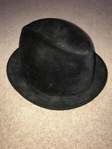VTG 50s 60s Knox Twenty Black Felt Pork pie Fedora Hat Men s SZ 7 1 ... 55abd025139