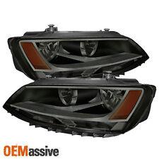 Fits Smoked 11-14 Volkswagen Jetta Sedan Headlights Lamps Pair Left+Right Set