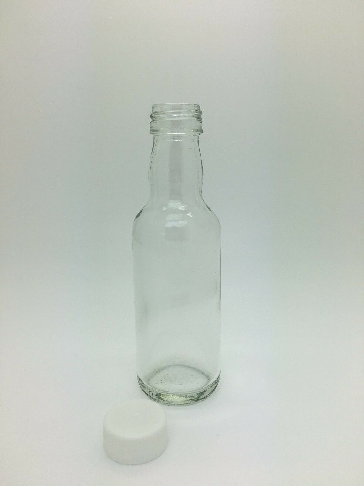 50ml Clear Glass Mini Spirit Bottle ideal for Wedding Favours, c/w ...
