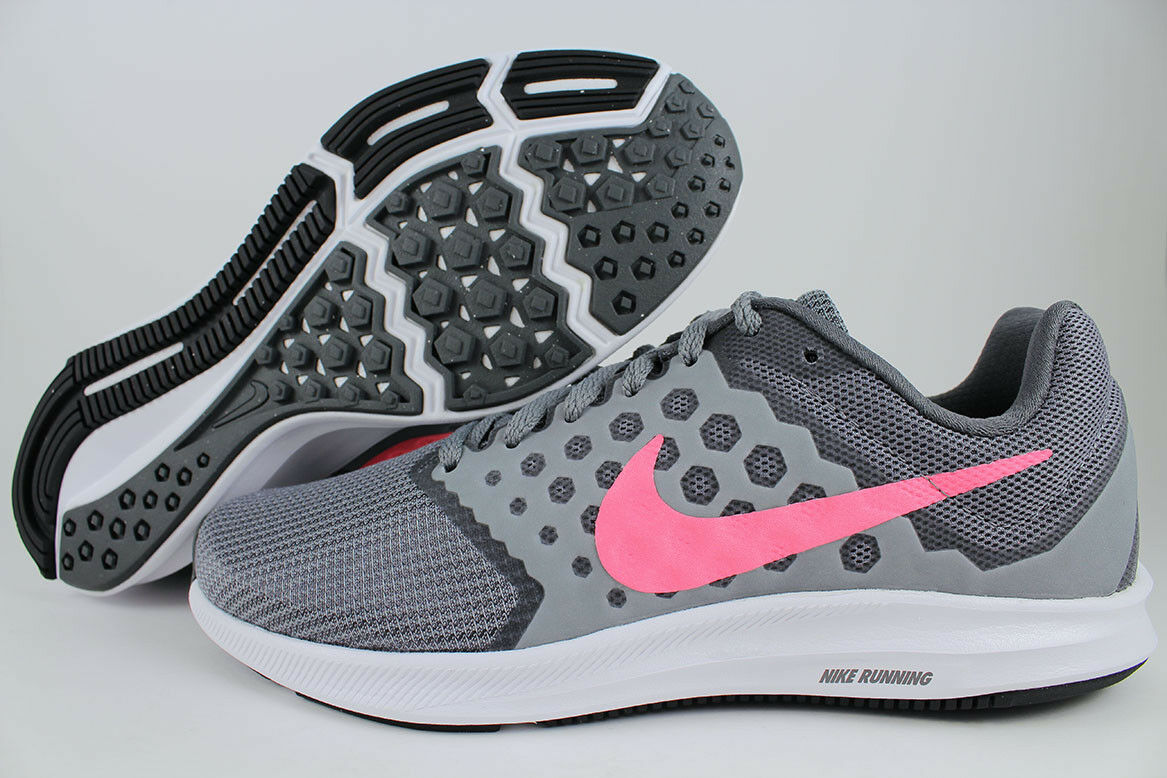 NIKE DOWNSHIFTER GRAY/LAVA 7 WIDE D COOL GRAY/LAVA DOWNSHIFTER GLOW CORAL PINK RUNNING US WOMEN SIZES ab7f72