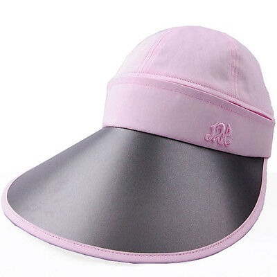 L.PINK UV Protection Sun Visor Wide-Brimmed Sun Hats Crown Zip-Off Hats JRS006