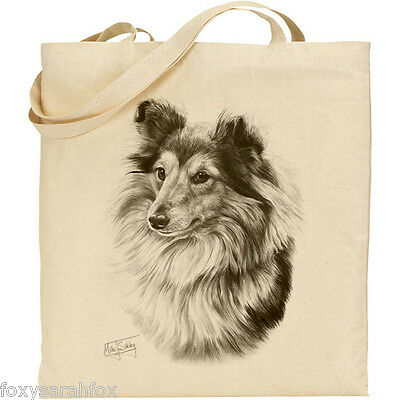 Mike Sibley Chow Chow dog breed Reusable Cotton Shopping//shoulder Tote Bag