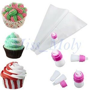 Two Colour Double Icing Bag Piping Nozzles Tip Cake ...