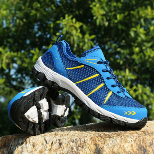 Mens Trail Running Hiking Shoes Mesh Athletic Sneakers Trainers Outdoor UK 5-14