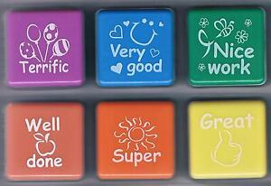 Image Is Loading Teacher Collection Self Inking Rubber Stamp Set 6