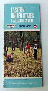 STANDARD OIL CHEVRON ROAD HIGHWAY TRAVEL MAP EASTERN UNITED - Road map of eastern united states