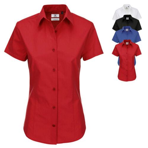 B/&C Damen Bluse Hemd POPLIN SHIRT HERITAGE SHORT SLEEVE Kurzarm Neu SWP44
