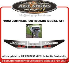1992 JOHNSON 9.9 hp  DECAL SET OUTBOARD STICKERS