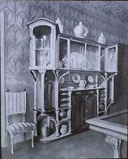 Art Nouveau Buffet by Plumet and Selmersheim, Magic Lantern Glass Photo Slide
