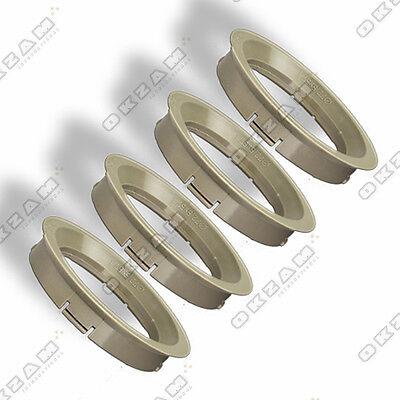 Ø 70.1 mm Ø 57.1 mm 4 WHEEL RIM SPACER SPIGOT RINGS FOR ALUMINIUM RIMS BROWN