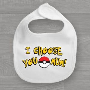 Pokemon ir divertido y alimentación regate Bandana de muselina yo elijo a ti mamá Babero de bebé
