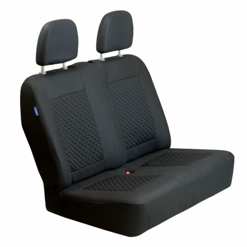 Black Small Checked Pattern Seat Covers for Iveco Euro Cargo Car Set 1+2