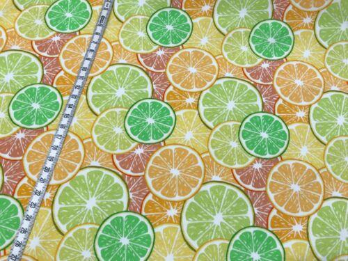 gelb//grün Limetten Kinderstoff Orangen Hilco Summer Fun Jersey