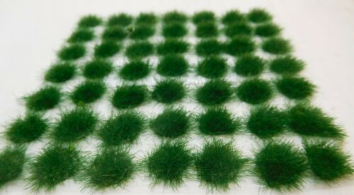 36 selbstklebende dunkelgrüne Grasbüschel 16 mm Durchmesser ca gras spots
