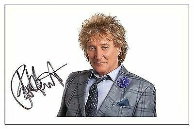 ROD STEWART SIGNED PHOTO PRINT AUTOGRAPH FACES MAGGIE MAY