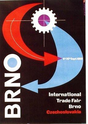 Original vintage poster BRNO CZECH INT.TRADE FAIR 1959