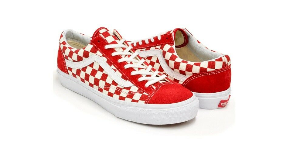 VANS RED STYLE 36 CASUAL SHOES VN-0XI0DI8