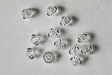 """48 X Swarovski #5301 BICONE Beads 4mm ALL COLORS! No Coating! From """"A"""" to """"S""""!"""