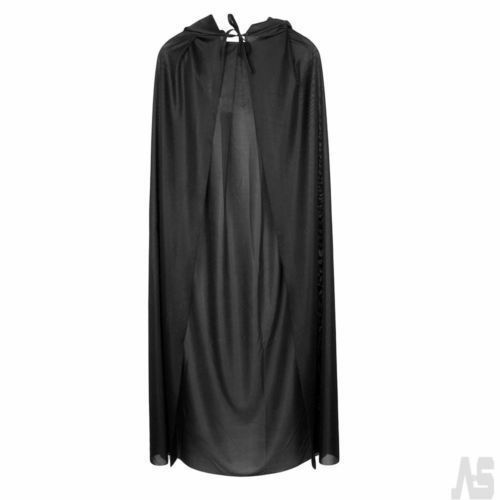 65/'/' Adult Hooded Long Clock Fancy Dress Costume Cape Cloak Robe Cosplay Outfit