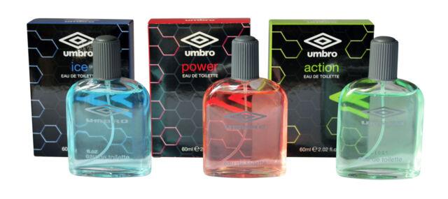 81e50492d3 Umbro 3x60ml Eau De Toilette Aftershave Collection for Men: Ice + Power +  Action