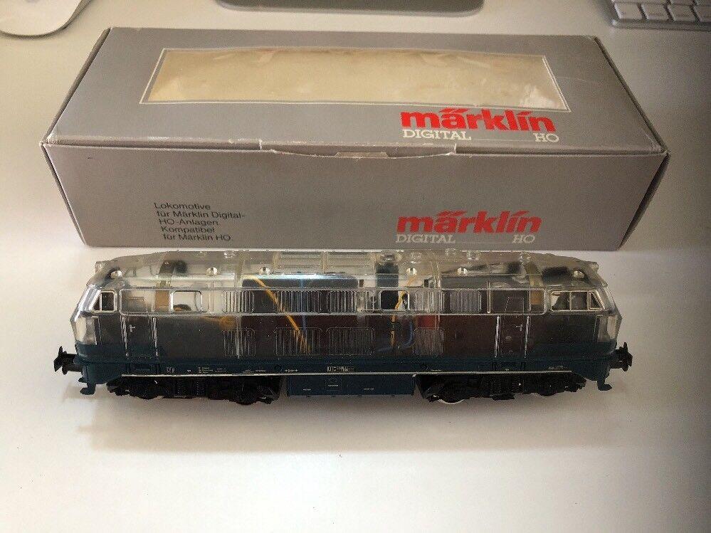 Marklin Ho Digital Lokomotive 3774 Transparent Lokomotive Rare Mint Condition
