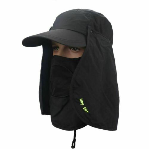 Unisex Outdoor Fishing Hiking Hat UV Protection Face Neck Flap Sun Caps Hats Sun