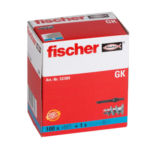 FISCHER GK FIXINGS PLASTER BOARD DOWEL NYLON TO SUIT SCREW SIZE Ø 4-5mm QUALITY