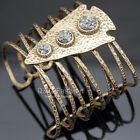 Vintage Gold Rough Arrow Head Drusy Stone Romina Hammered Bracelet Bangle Cuff H